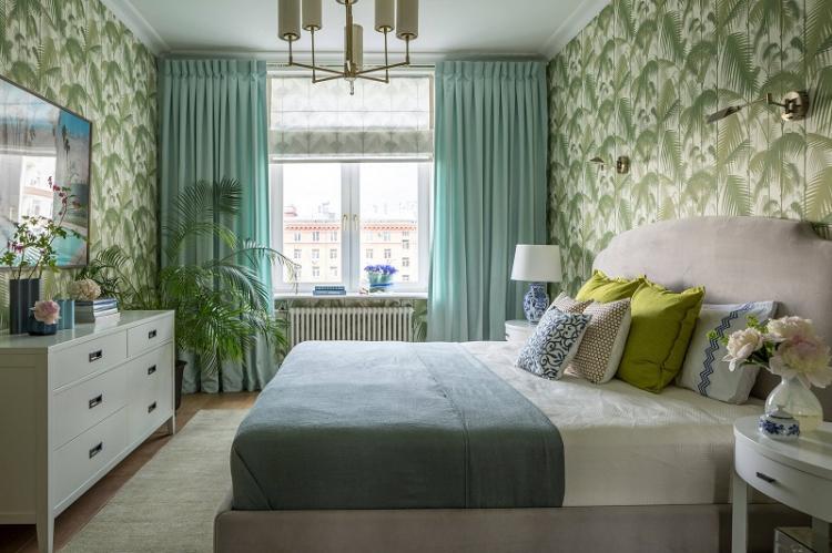 Зеленый - Цвет обоев для спальни