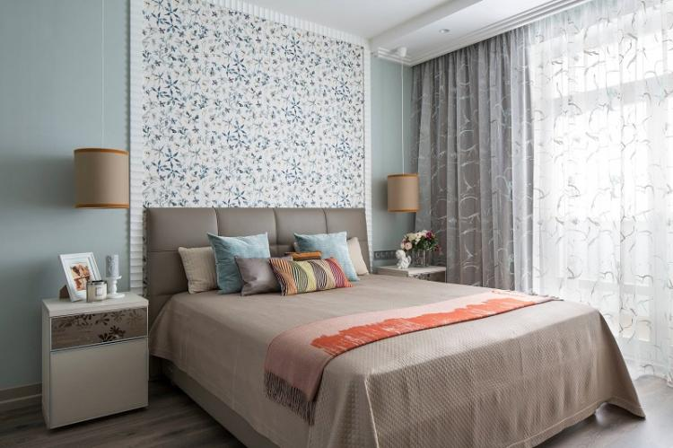 Правильное комбинирование обоев - Обои для спальни
