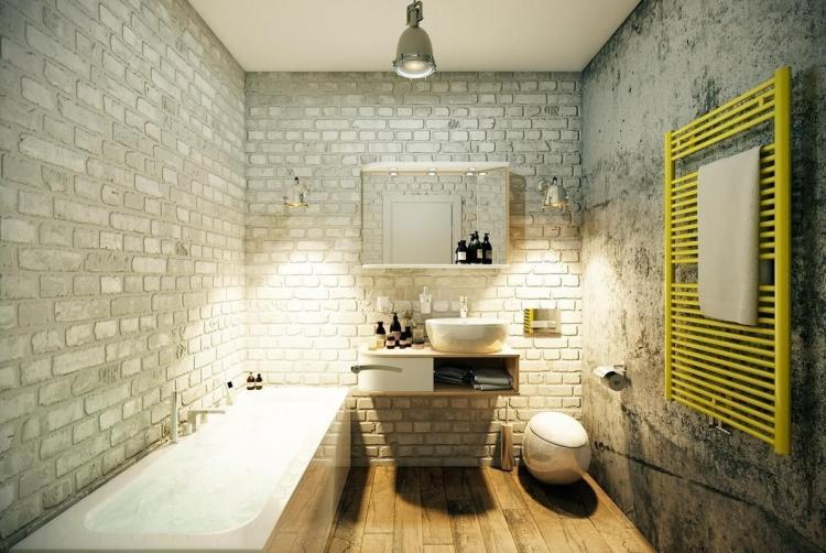 Ванная комната - Обои под кирпичную кладку в интерьере