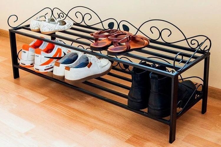 Обувница в прихожую из металлического профиля своими руками