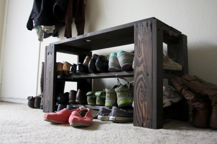 Обувница в прихожую из поддонов своими руками