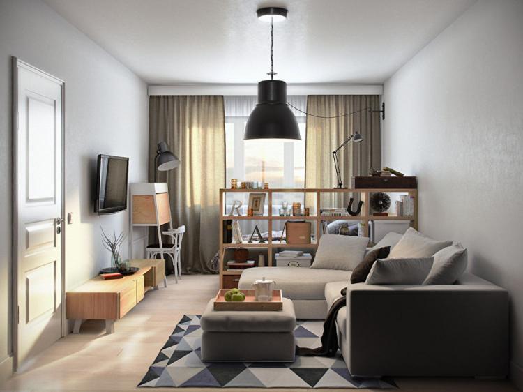 Однокомнатная квартира площадью 36 кв.м.