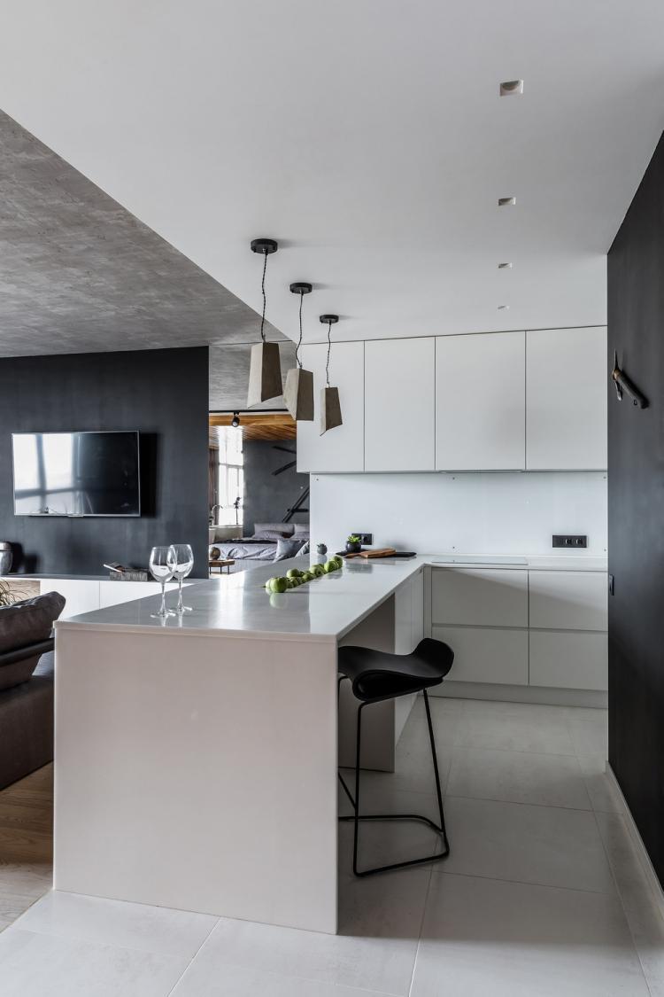 Open Loft: Квартира 55 кв.м. - дизайн интерьера