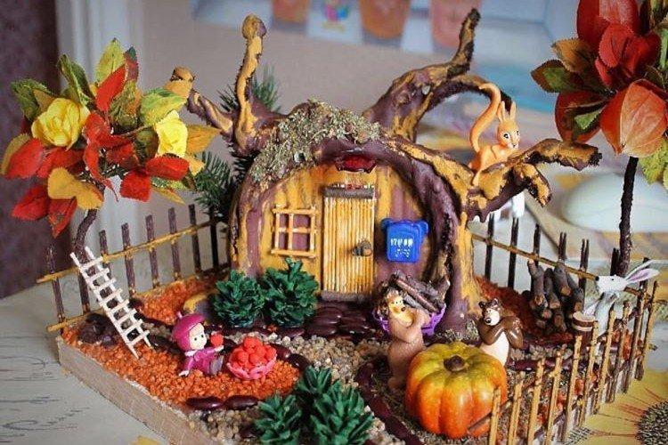 Домики и города - Осенние поделки в детский садик своими руками