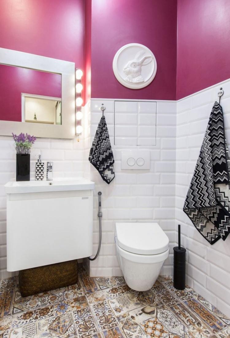 Цветовые решения - Отделка стен в туалете