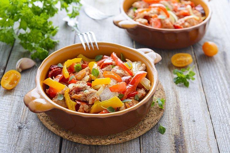 Молодые овощи с мясом - рецепты