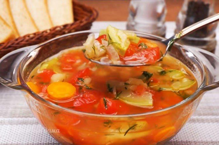 Овощной суп с кабачками - рецепт пошагово с фото