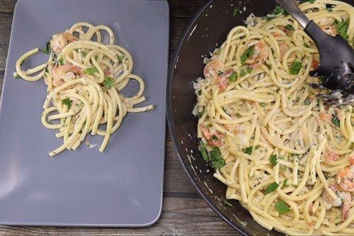 Паста с креветками в сливочном соусе - пошаговый рецепт
