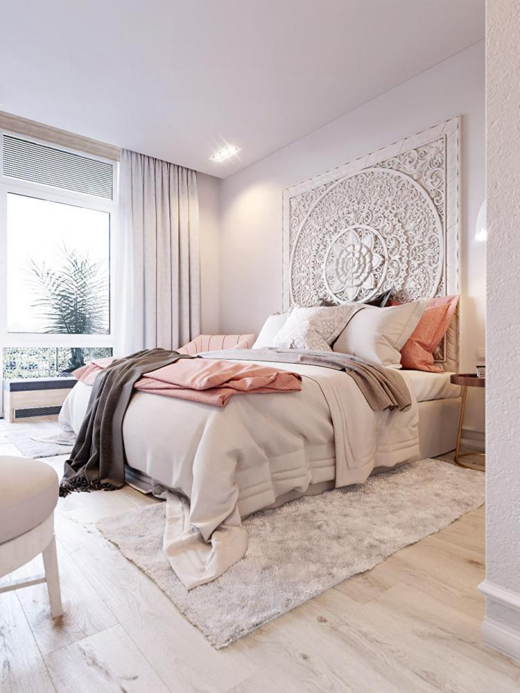 Pink & White: Квартира в скандинавском стиле - дизайн интерьера