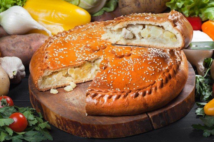 Пирог с курицей и картошкой - рецепты