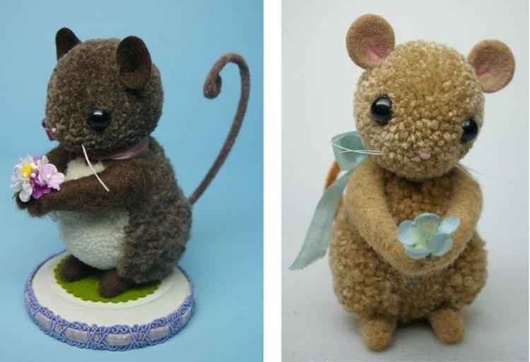 Новогодняя крыса из помпонов - Подарки на Новый год 2020 своими руками