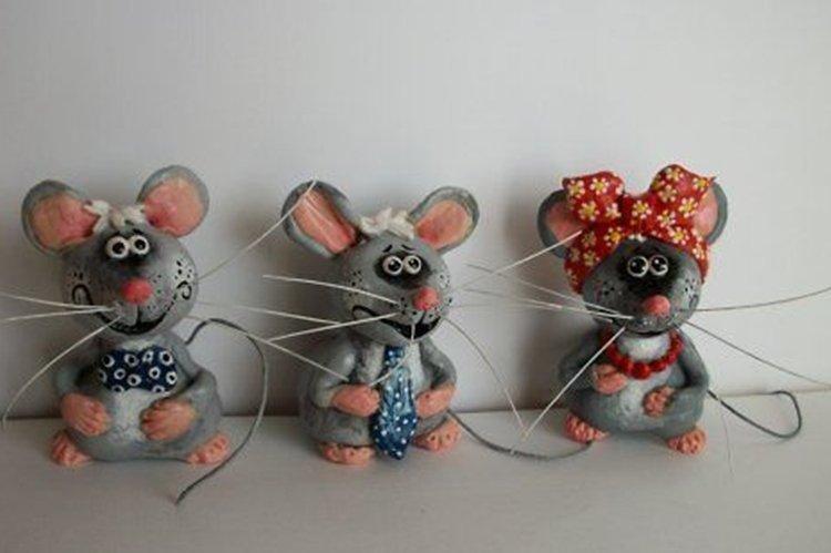 Новогодняя крыса из теста - Подарки на Новый год 2020 своими руками