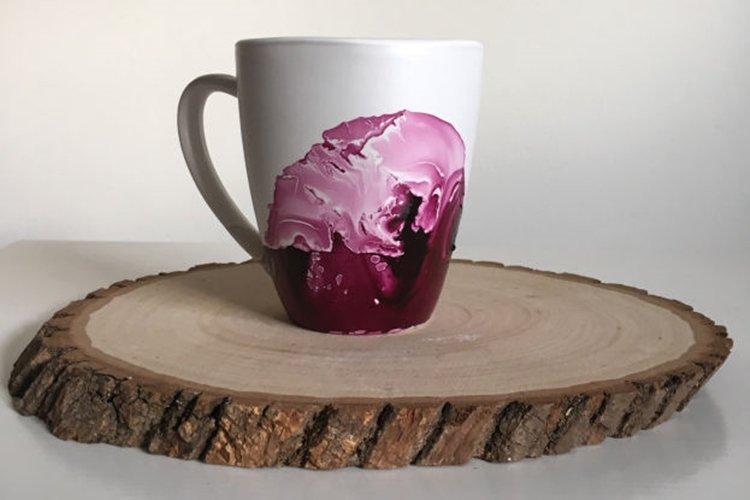 Мраморная чашка - Подарки на Новый год 2020 своими руками