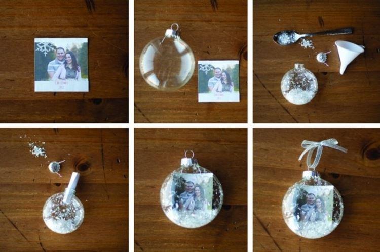 Шарики с семейными фотографиями - Подарок маме на Новый год своими руками