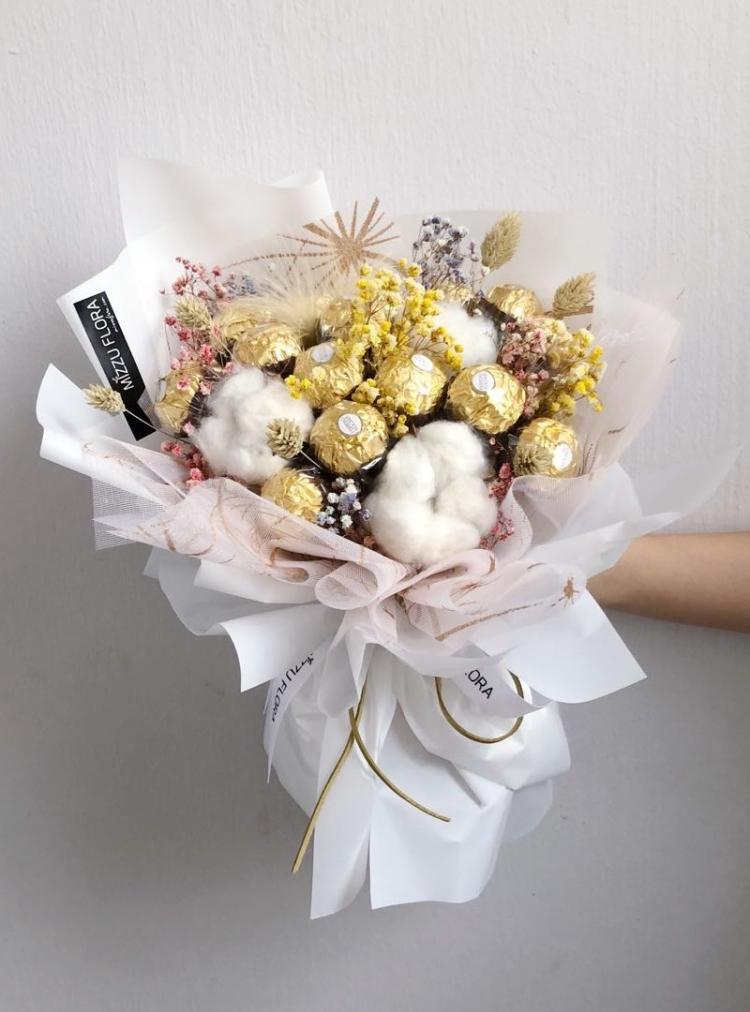 Конфетный букет - Идеи подарков на день рождения своими руками