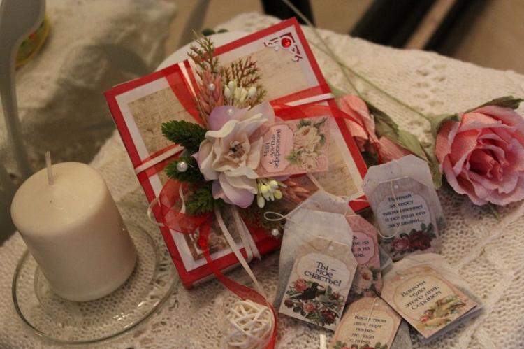 Чай с пожеланиями для любимого - Идеи подарков на день рождения своими руками