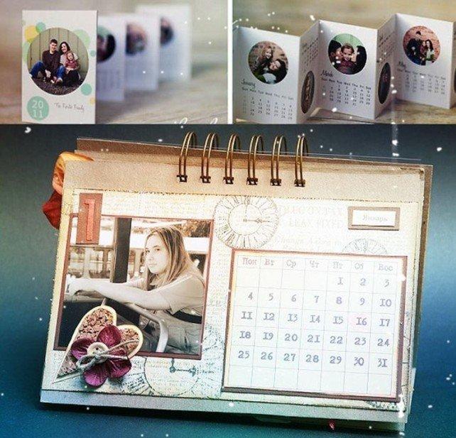 Календарь на 2021 год с фотографиями - подарок на Новый год своими руками