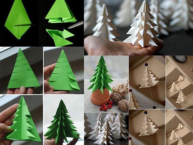 Новогодняя елка - Поделки из бумаги на Новый год 2021 своими руками