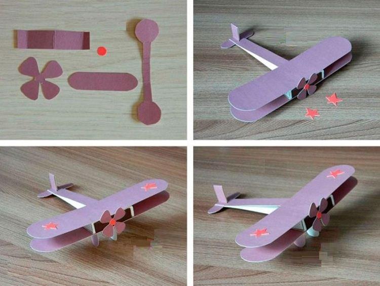 Самолетик из картона - Поделки из картона своими руками
