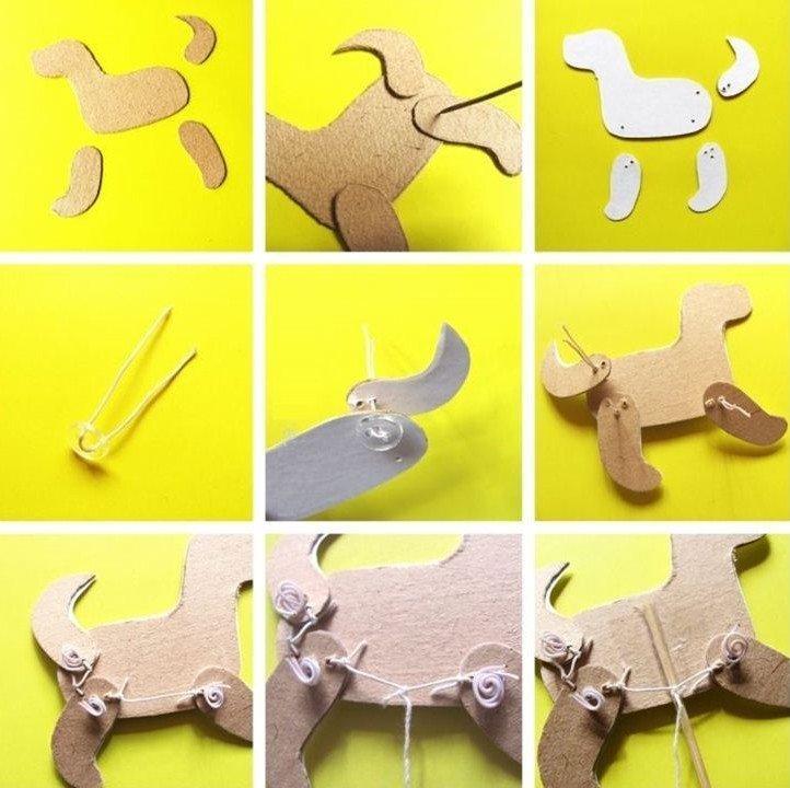 Подвижные игрушки - Поделки из картона своими руками