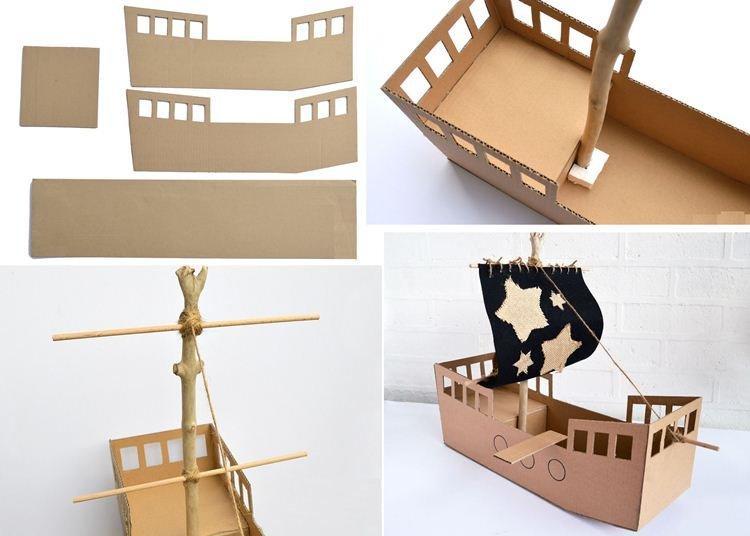 Корабль - Поделки из картона своими руками