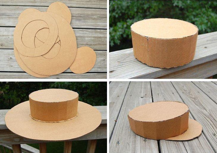 Шляпка - Поделки из картона своими руками