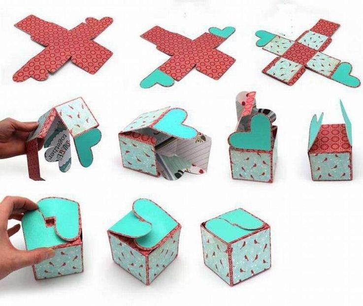 Коробка-сердечко - Поделки из картона своими руками