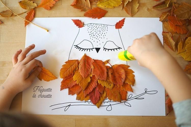 Поделки из осенних листьев для детей своими руками (50 фото)