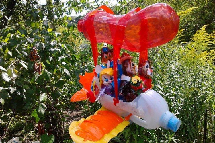 Садовые фигурки - Поделки из пластиковых бутылок своими руками