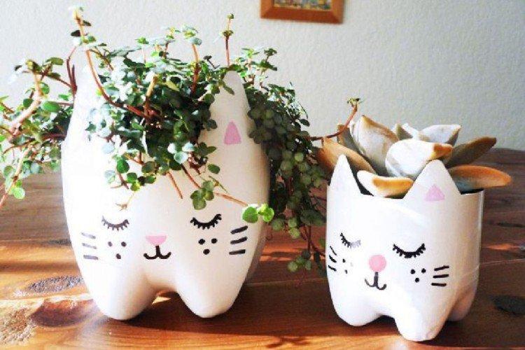 Горшки и вазы для цветов - Поделки из пластиковых бутылок своими руками