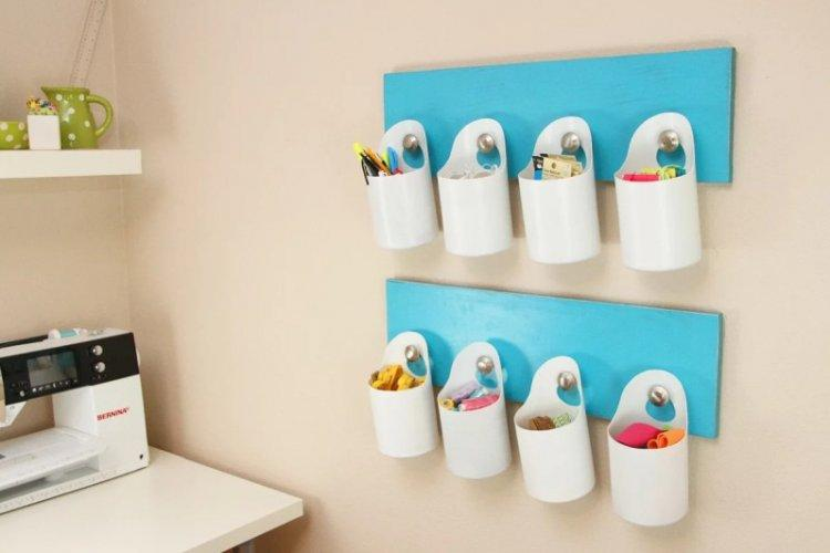Подставки и органайзеры - Поделки из пластиковых бутылок своими руками