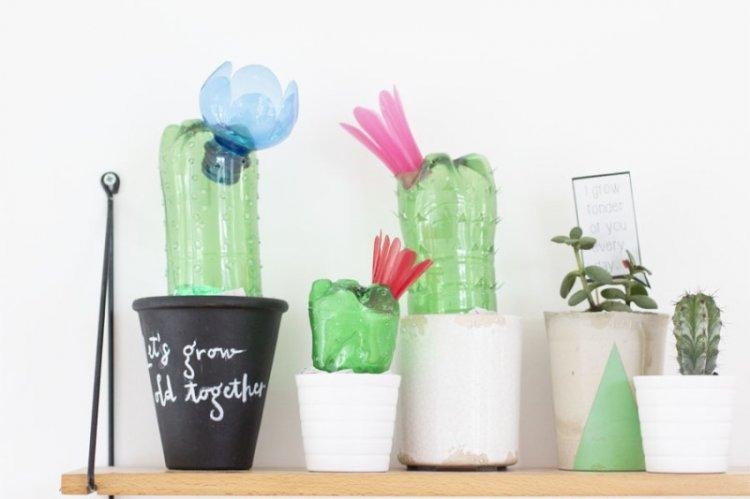 Декоративные фигурки - Поделки из пластиковых бутылок своими руками