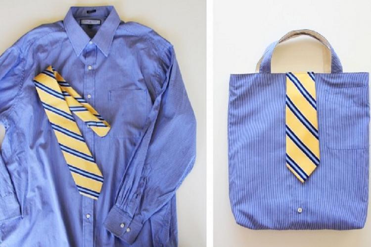 Сумка из рубашки - Поделки из старых вещей своими руками