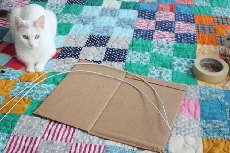 Домик для кошки из старых футболок - Поделки из старых вещей своими руками
