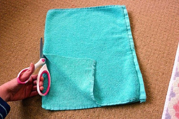 Напольный коврик из старых полотенец - Поделки из старых вещей своими руками