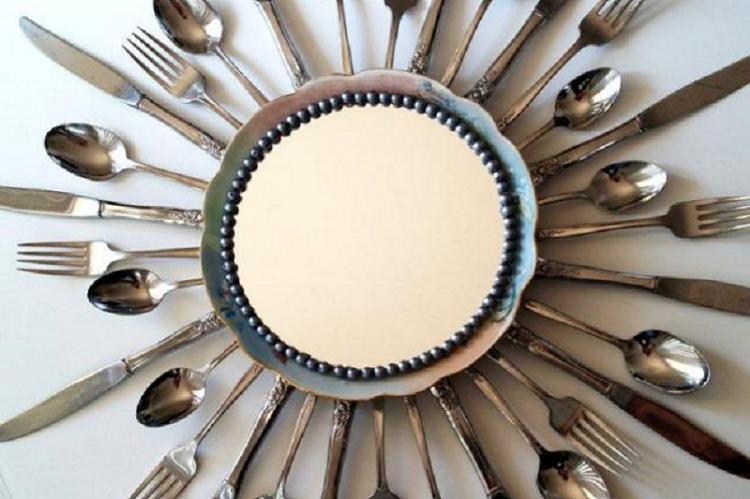 Декор для кухни из старых столовых приборов - Поделки из старых вещей своими руками