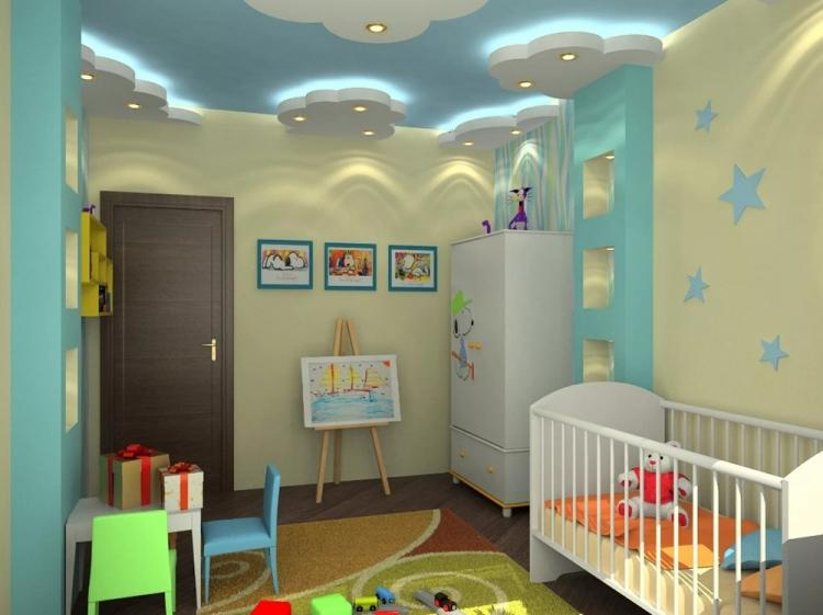 Подвесной потолок в детской комнате - фото