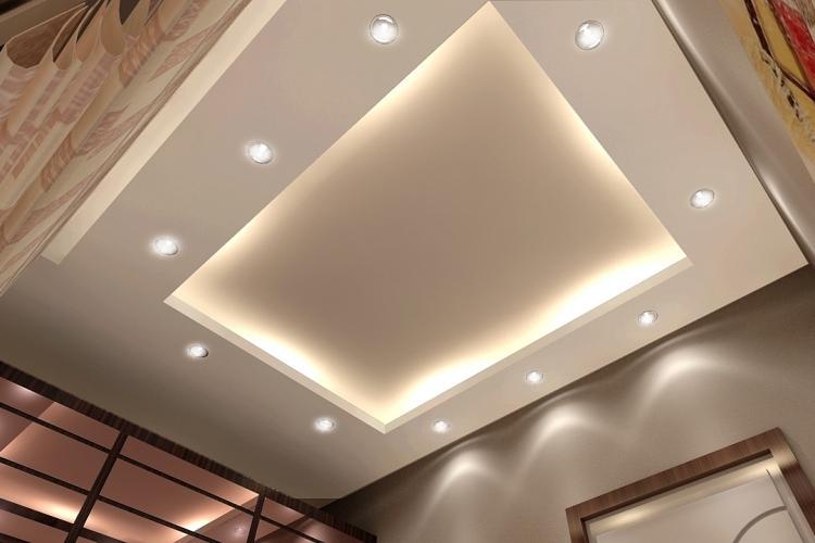 Точечные светильники - Освещение и подсветка потолка из гипсокартона