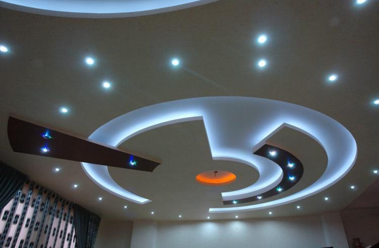 Дизайн потолков из гипсокартона - фото