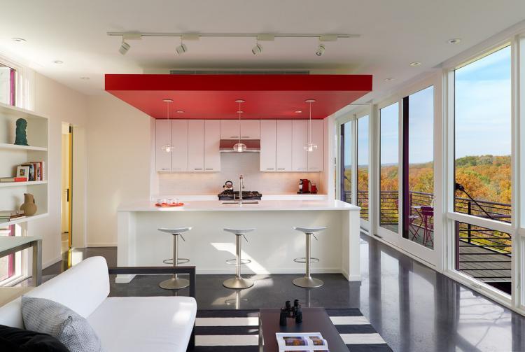 Особенности - Потолок из гипсокартона на кухне