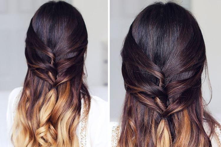 Тройная мальвинка - Прически на длинные волосы на каждый день