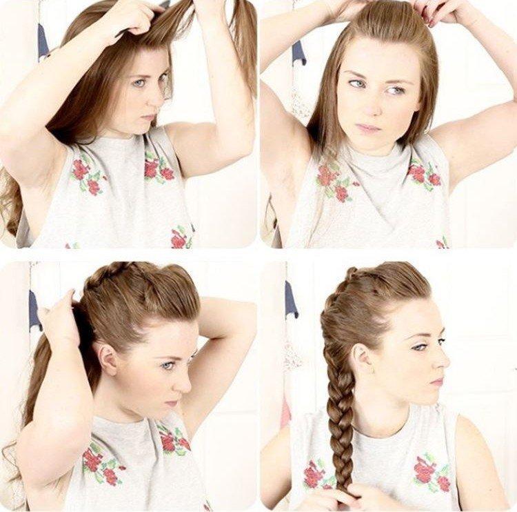 Обычная коса с объемом - Прически в школу для подростков