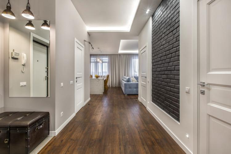 Отделка стен - Дизайн прихожей в современном стиле