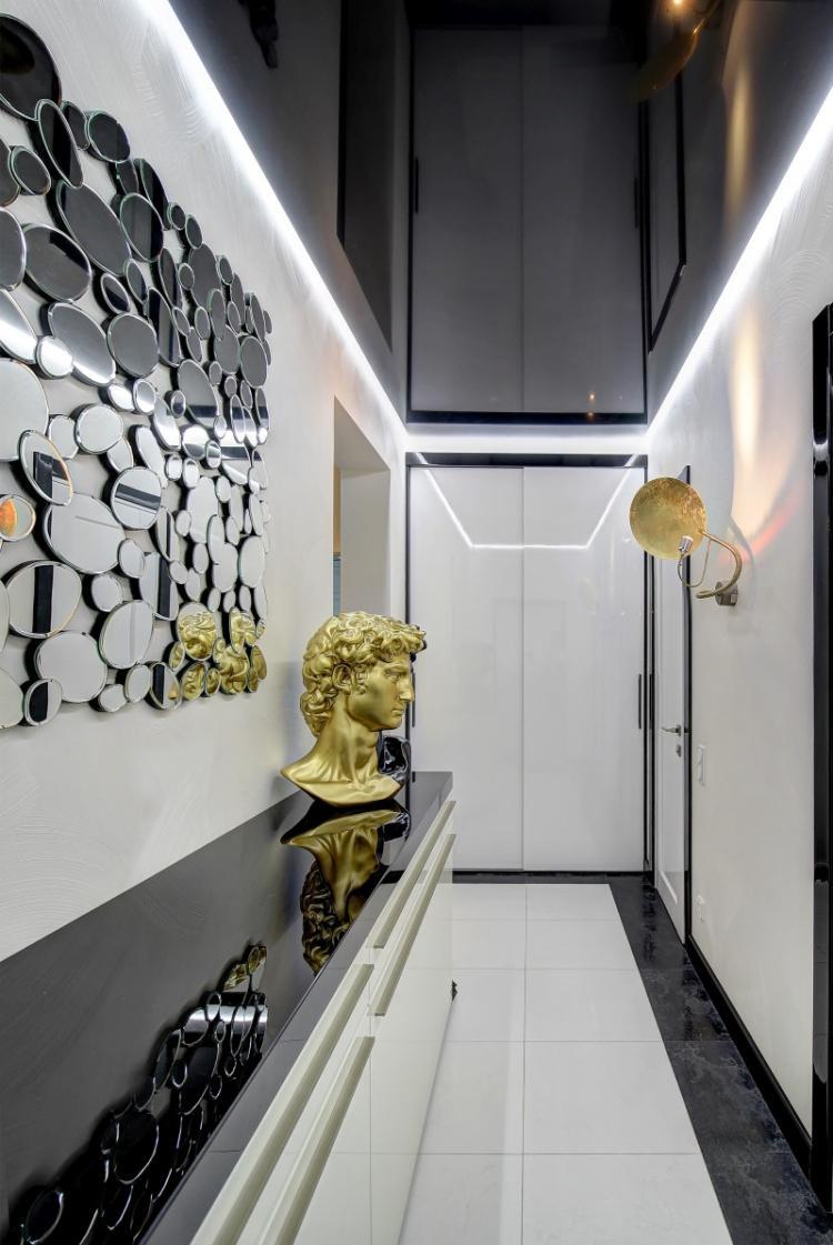 Дизайн потолка - Дизайн прихожей в современном стиле