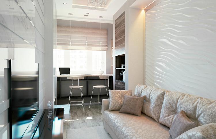 Проект квартиры 45 кв.м. в ЖК «Путилково»