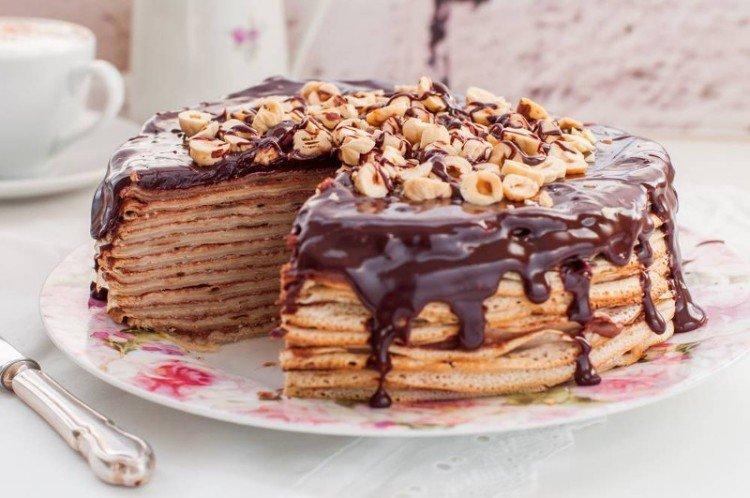 Торт из шоколадных блинчиков в домашних условиях - рецепты
