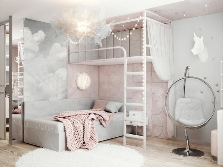 «Пудровые облака»: Детская комната для девочки
