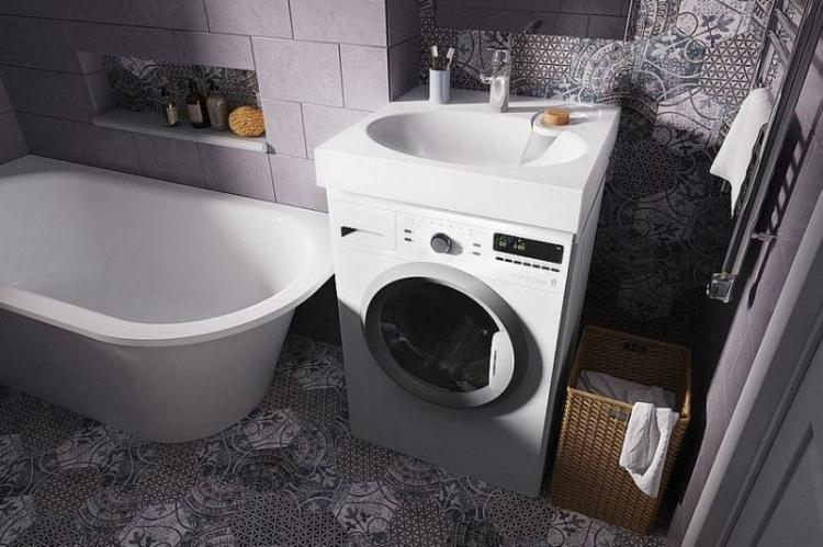 Преимущества решения - Раковина над стиральной машиной