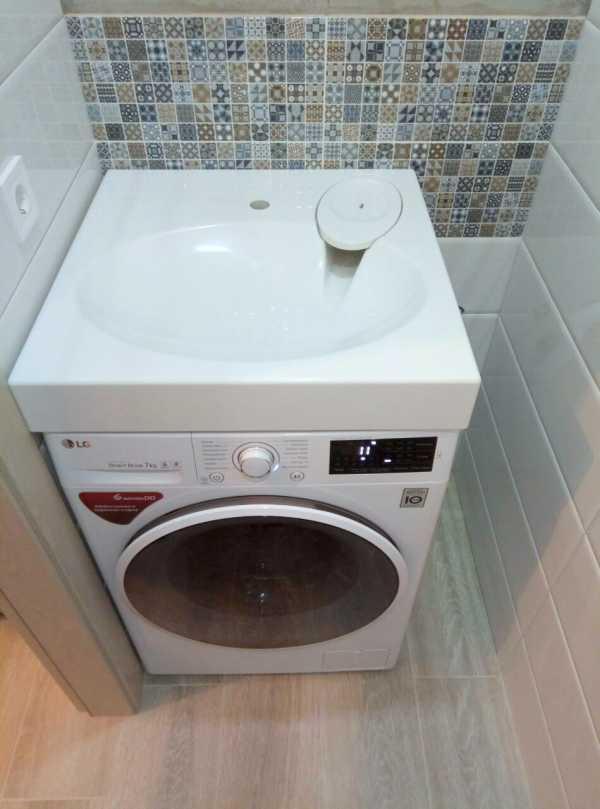 Выбираем стиральную машинку - Раковина над стиральной машиной