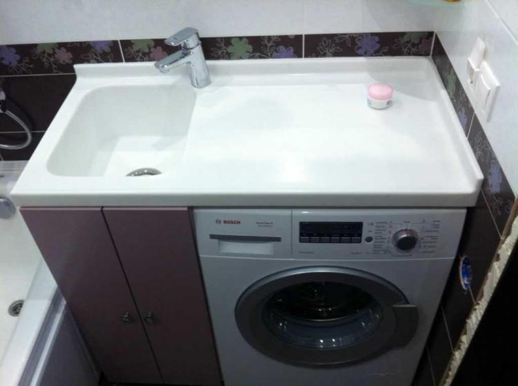 Габариты - Раковина над стиральной машиной